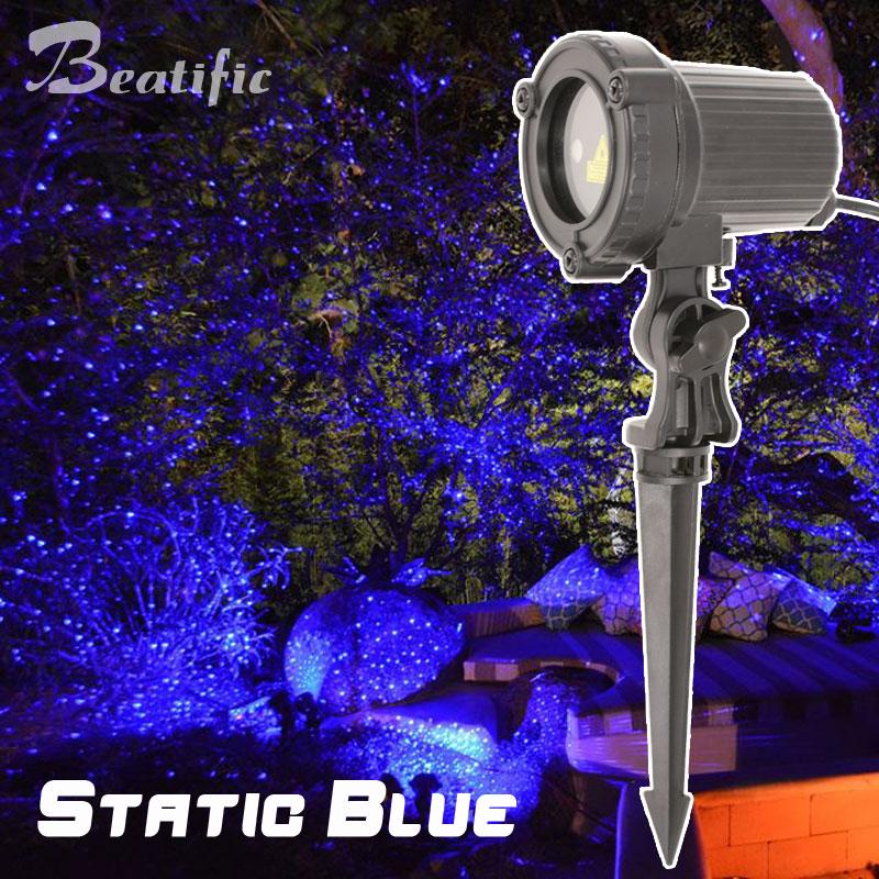 все цены на Outdoor Holiday Laser Lights Projector Blue Christmas Tree Decorations Static Effect Christmas Laser Lights