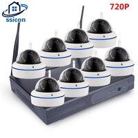 SSICON HD 8CH 720 P Беспроводной NVR CCTV Системы Wi Fi IP Камера Водонепроницаемый купол безопасности Камера видеонаблюдения комплект Plug и играй