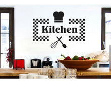 Customizable Name Vinyl Sticker Kitchen Restaurant Home Decor DIY Removable Wall Sticker CF13