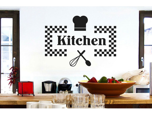 Customizable Name Vinyl Sticker Kitchen Restaurant Home Decor DIY Removable Wall Sticker CF13