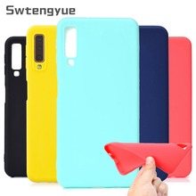 Candy Color Phone Case For Samsung Galaxy A7 2018 Case Silicon Soft TPU Cover For Samsung Galaxy A7 2018 A750F case capa Coque youthsay for coque samsung galaxy a7 case 2018 cover for samsung galaxy a7 2018 case for samsung a7 phone cover with card case