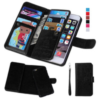 Magnetic 2 In 1 Wallet Leather Case For IPhone 6 4 7 With 9 Business Credit