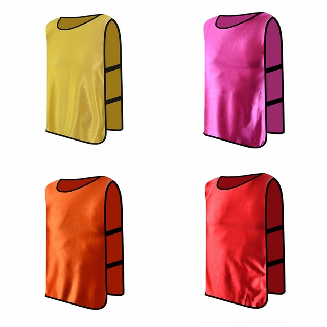 Adult Children Kid Team Sports Football Soccer Training Pinnies Jerseys Quick-dry Breathable Training Bib Vest Outdoor sports