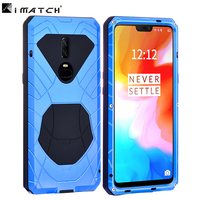 Oneplus 6 case Aluminum metal silicon back cover case for oneplus 6 coque