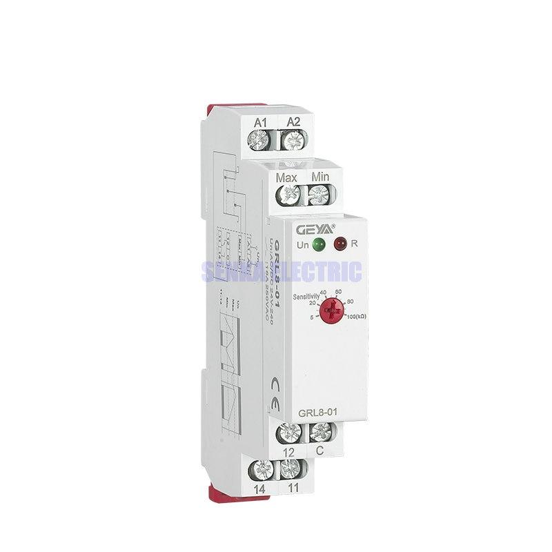 Liquid Level Control Relay 10A AC/DC24-240V Liquid Water Level Controller GRL8Liquid Level Control Relay 10A AC/DC24-240V Liquid Water Level Controller GRL8