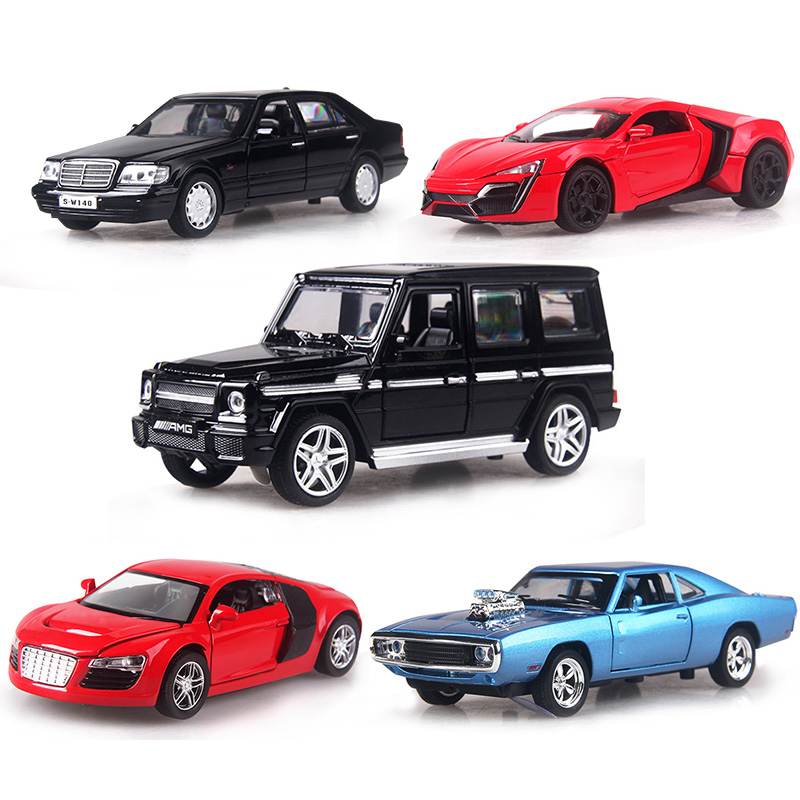 4 Color 1:32 Scale 14-16CM Alloy Cars  S320 W140 Car Pull Back Diecast Model Toy With Sound Light Collection Gift Toy Boys Kids