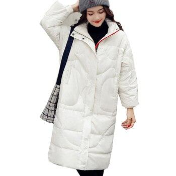 Chaqueta parka de plumón de pato blanco para mujer de invierno, chaqueta acolchada para mujer, abrigo abrigado con cremallera, parkas largas y ligeras, abrigos