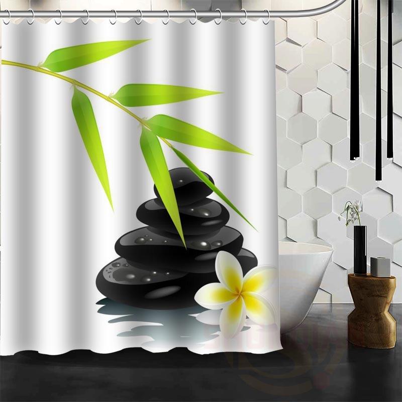 Best Nice Custom Large Bamboo Shower Curtain Bath Curtain Waterproof Fabric For Bathroom MORE SIZE WJY#29