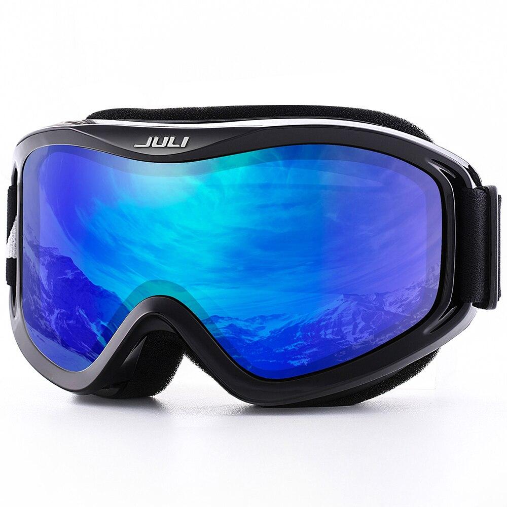 Снег сноуборд, очки лыжные очки для Для мужчин, Для женщин и молодежи-100% УФ-защитой Анти-туман Двойной объектив Лыжная маска очки лыжи