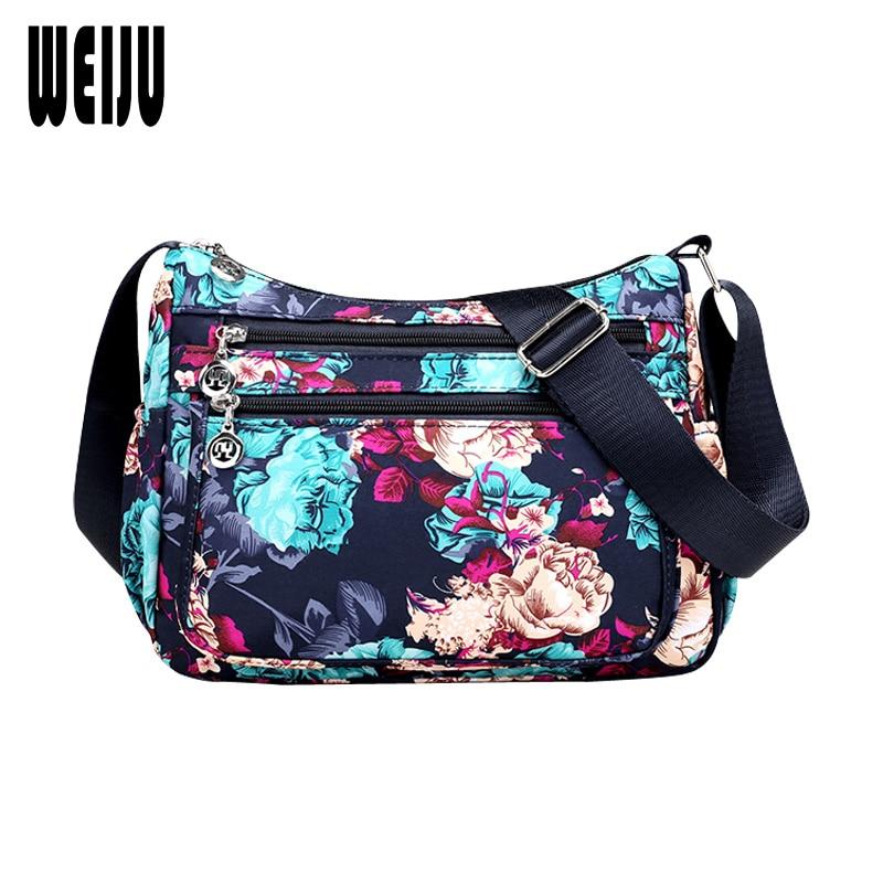 WEIJU Women Shoulder Bag for Women 2017 Fashion Printing Nylon Waterproof Womens Bag Casual Messenger Bags Female