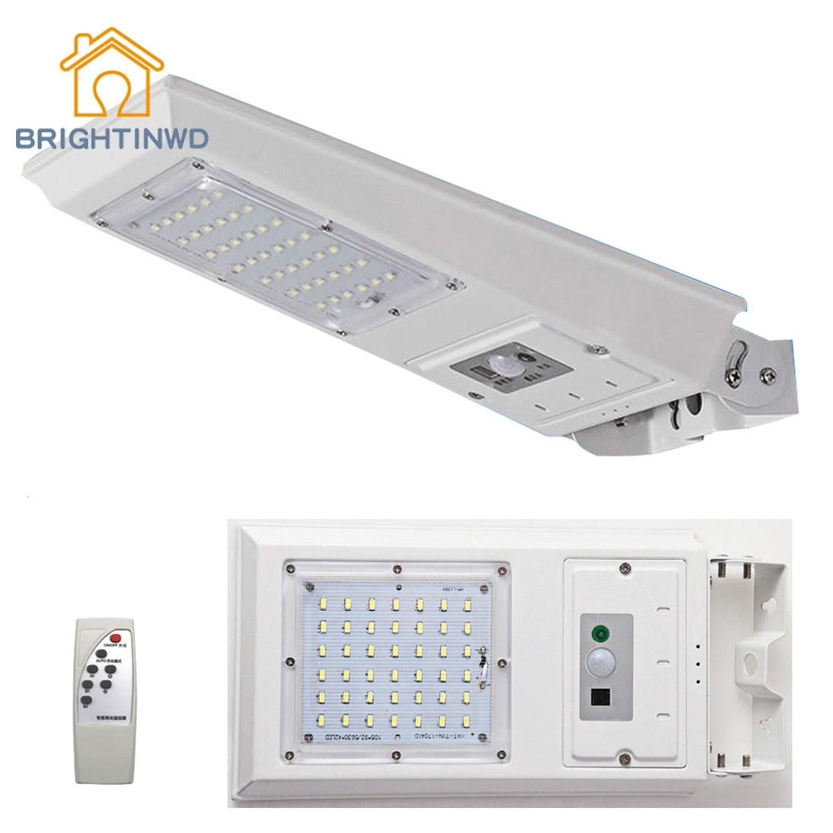 Здесь продается  BRIGHTINWD 42 LED 2520 Lumens Remote Control Solar Lamp Infrared PIR Motion Sense Waterproof Street Wall Light Outdoor Garden  Свет и освещение