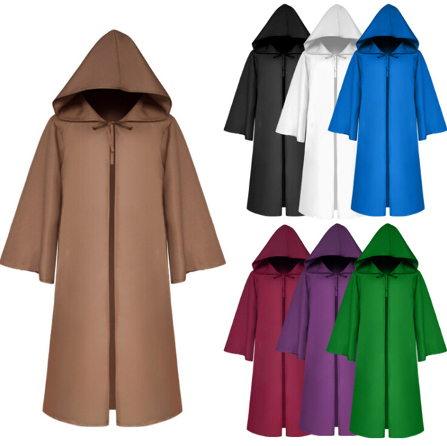 2018 Halloween Gift Movie Jedi Sith Knight Cloak Cosplay Adult Kids Hooded  Robe Cloak Cape Halloween Cosplay Costume 1fc3d54ac