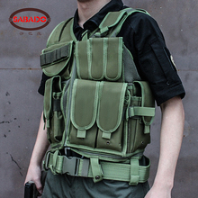 600D Wear-resisting Hunting Tactical Wargame Equipment tactics Military Molle Multifunctional Outdoor Adjustable Camo Hunt Vest 600d military tactical molle unisex clay dragon tactical belt durable canvas hunting material outdoor utility accessories