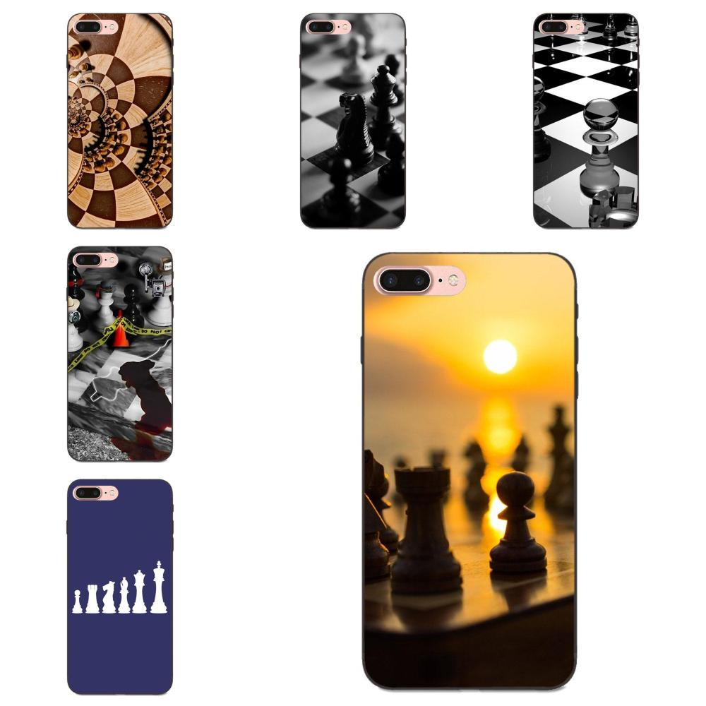 Soft TPU Fashion Case For <font><b>Samsung</b></font> <font><b>Galaxy</b></font> Note 4 8 9 G313 S3 <font><b>S4</b></font> S5 S6 S7 S8 S9 S10 Edge Plus Lite I9082 Chess <font><b>Board</b></font> Pieces New image