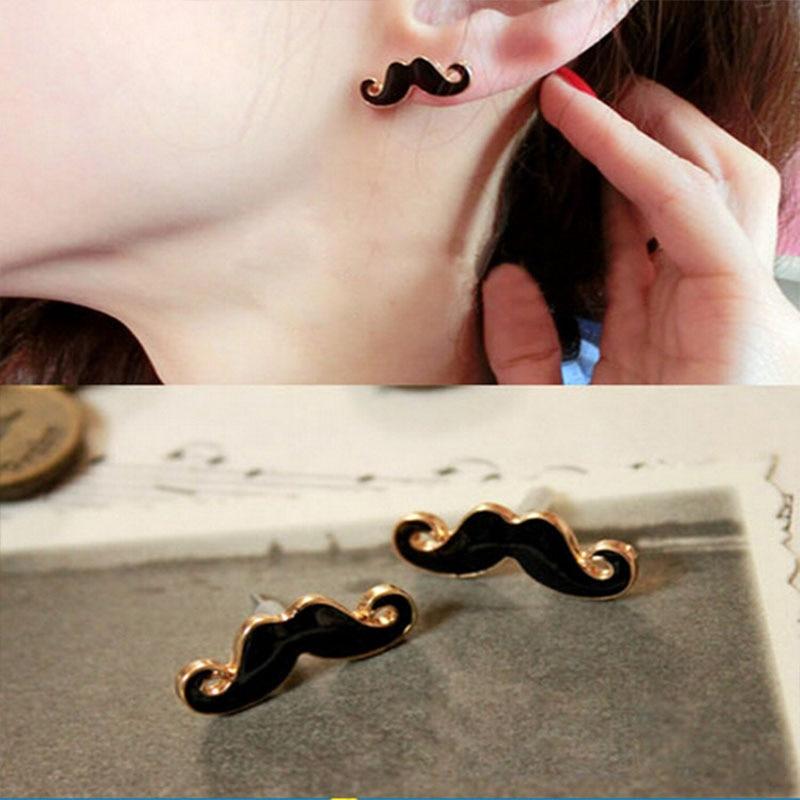 Hot 1 Pair Women Girls Fashion European Sexy Mustache Design Stud Earrings Jewelry Gift 6 Colors
