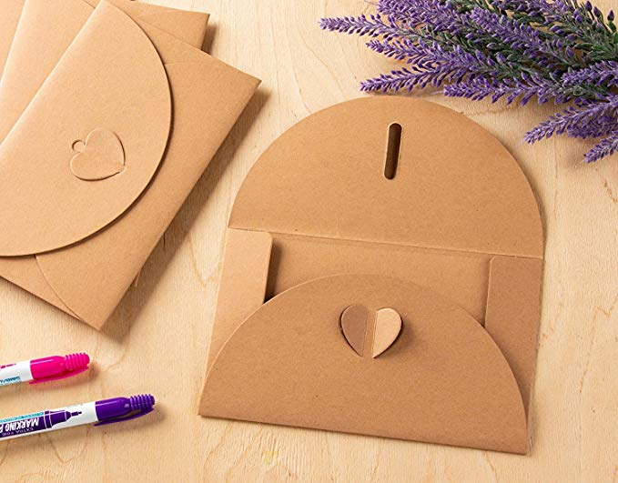 10pcs vintage Kraft paper envelope for invitations gift wedding envelopes decoration stationery paper school mini envelope 4