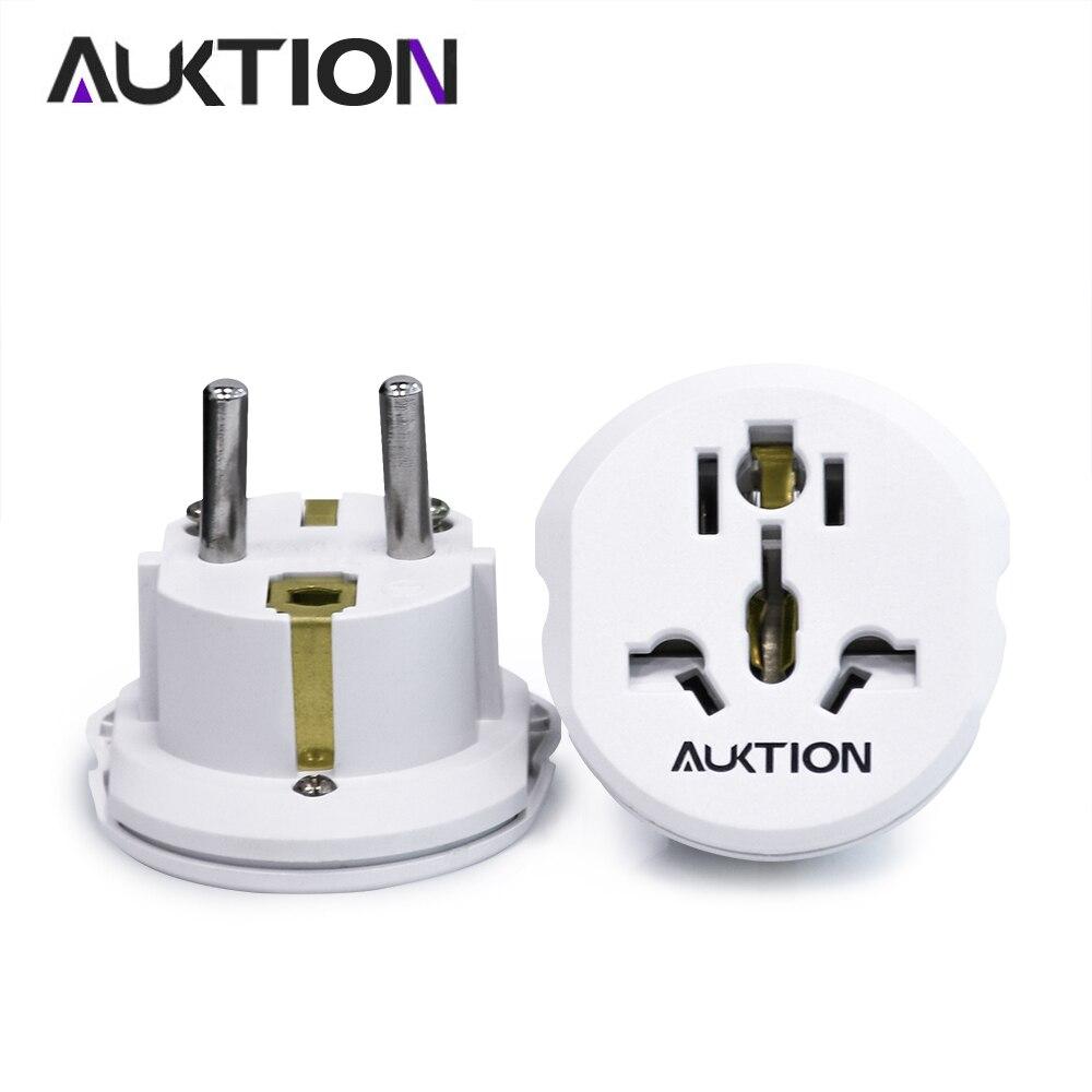 AUKTION 16A универсальный ЕС (Европа) адаптер конвертер 250 в зарядное устройство переменного тока для путешествий стены мощность адаптер вилка р...