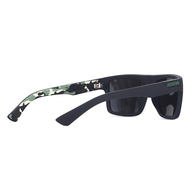 KDEAM The Main Polarized Sunglasses Sport For Men Camouflage Outdoor Goggles Reflective Polarizing Sun Glasses With Designer Box
