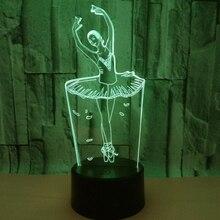 3D светодио дный светодиодный ночник с 7 цветов свет для украшения дома лампа удивительная визуализация Оптическая иллюзия Лампа