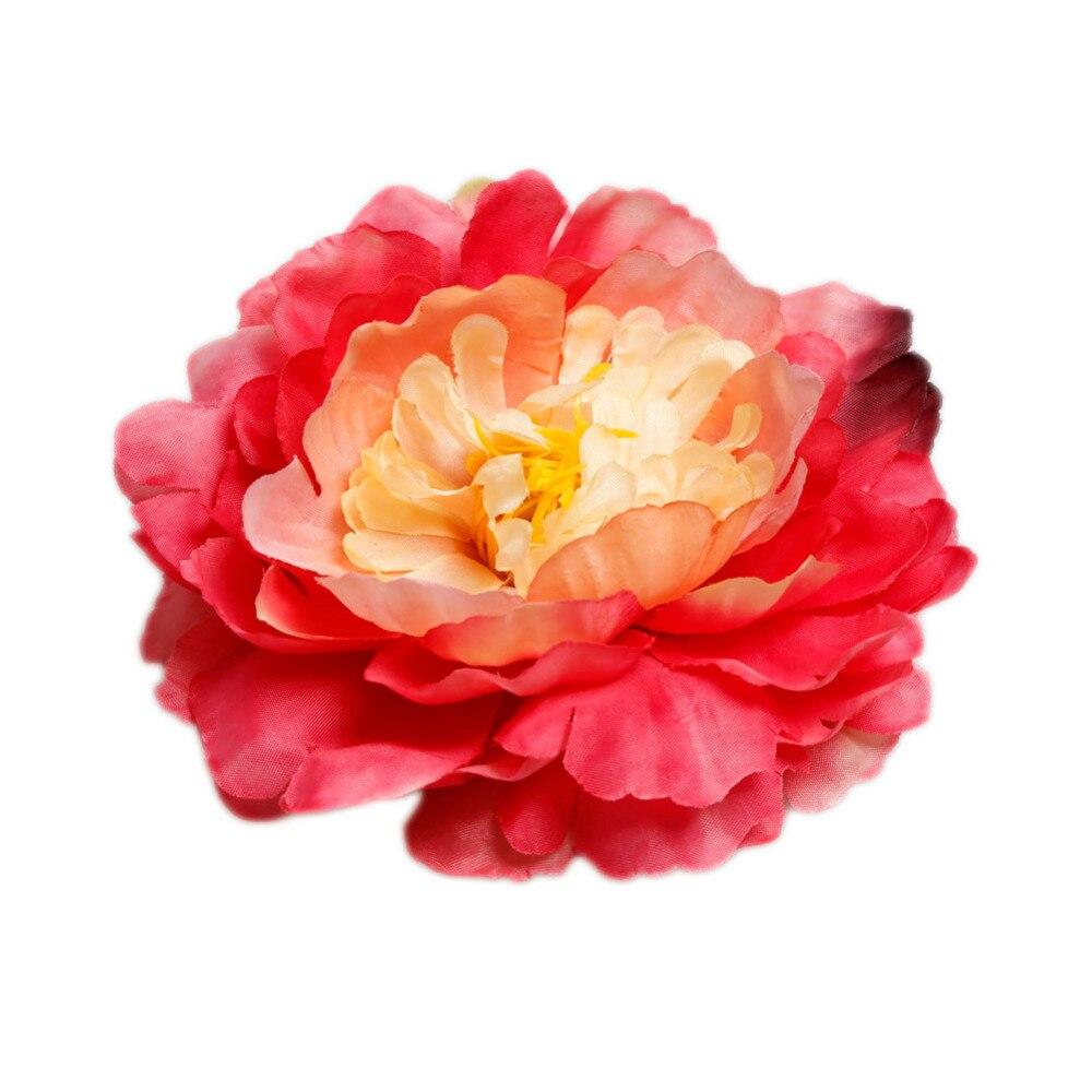 Fashion Colorful DIY Artificial Flowers Peony Silk Flower Hat ...