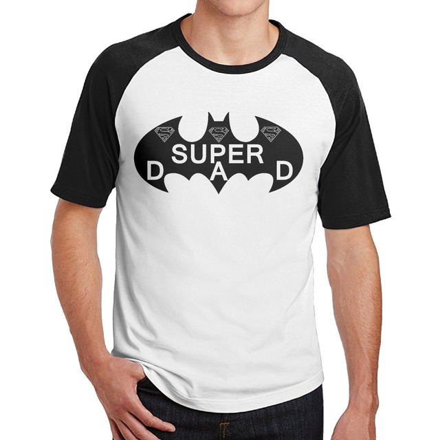 3747735a0 US $19.99 |Batman Super Dad O Neck Man Short Sleeve Raglan Baseball T Shirt  Customized funny T shirt for Gentleman-in T-Shirts from Men's Clothing on  ...