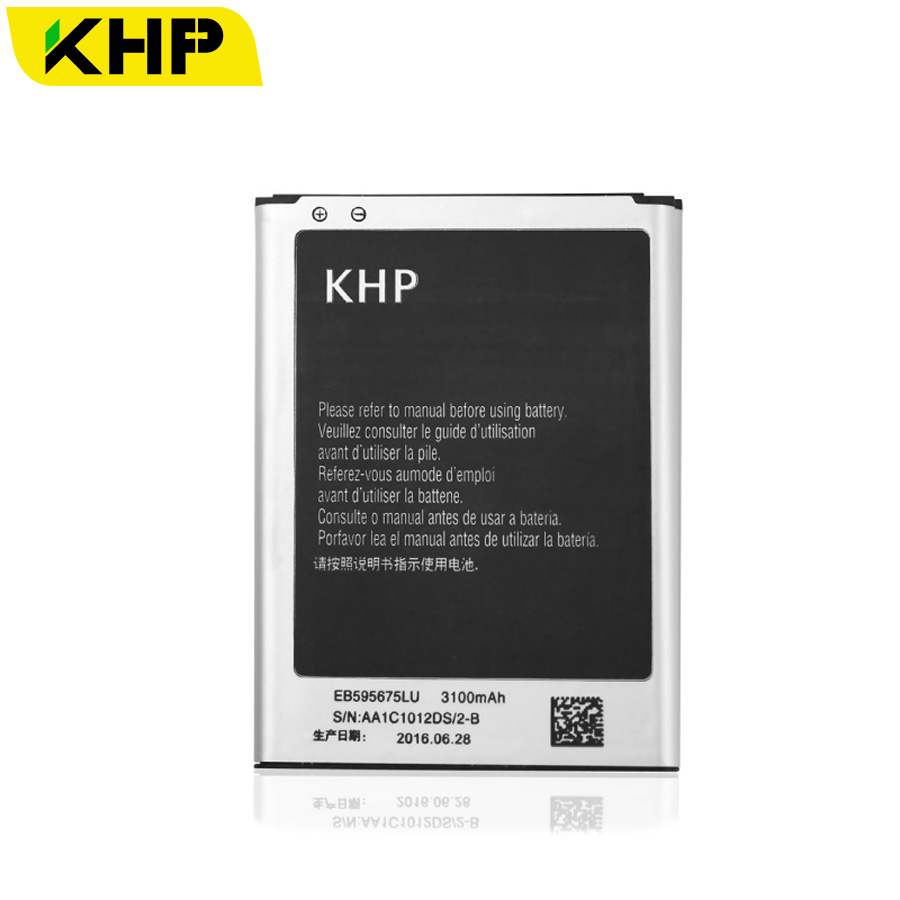 ISMART Official Store 100% Note 2 KHP Original Battery For Samsung Galaxy Note 2 II N7100 N7105 Real 3100mAh AAA Replacement Mobile Phone Batteries