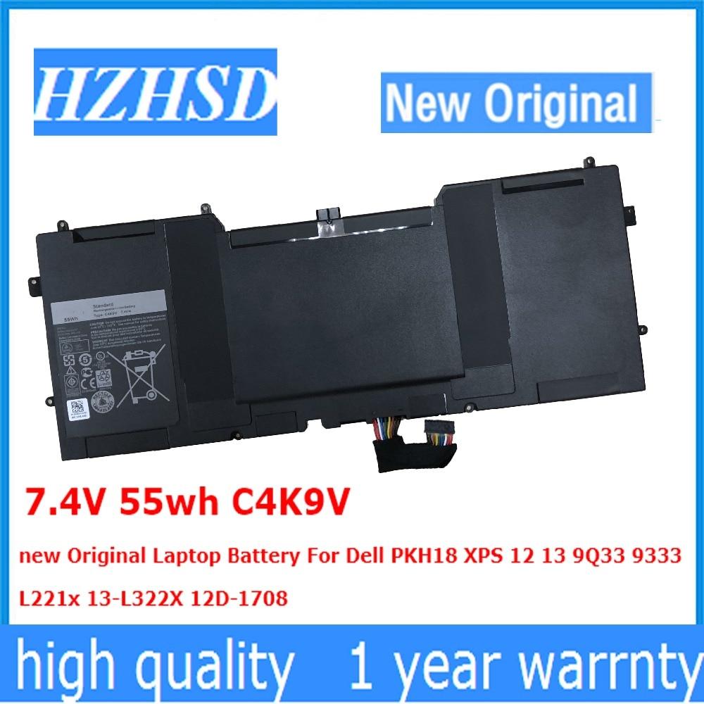 7.4V 55wh C4K9V new Original Laptop Battery For Dell PKH18 XPS 12 13 9Q33 9333 L221x 13-L322X 12D-1708 цены онлайн