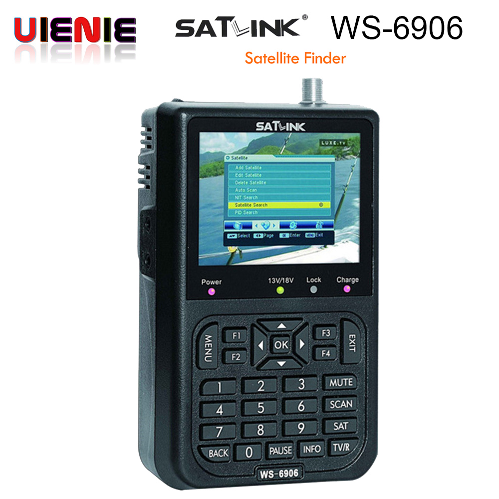 Satlink WS-6906 3.5 DVB-S FTA digital satellite satFinder meter satellite finder LCD Sat Finder ws 6906 satlink ws6906 PK V8 digital satellite satfinder meter satellite finder lcd sat finder satellite signa