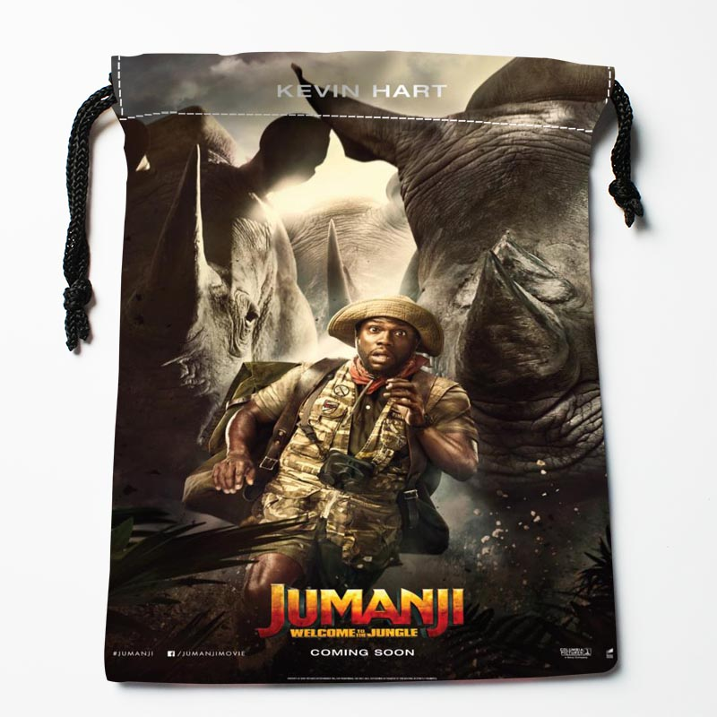 New Custom Jumanji: Welcome To The Jungle Bags Custom Drawstring Bags Printed Gift Bags 27x35cm Compression Type Bags