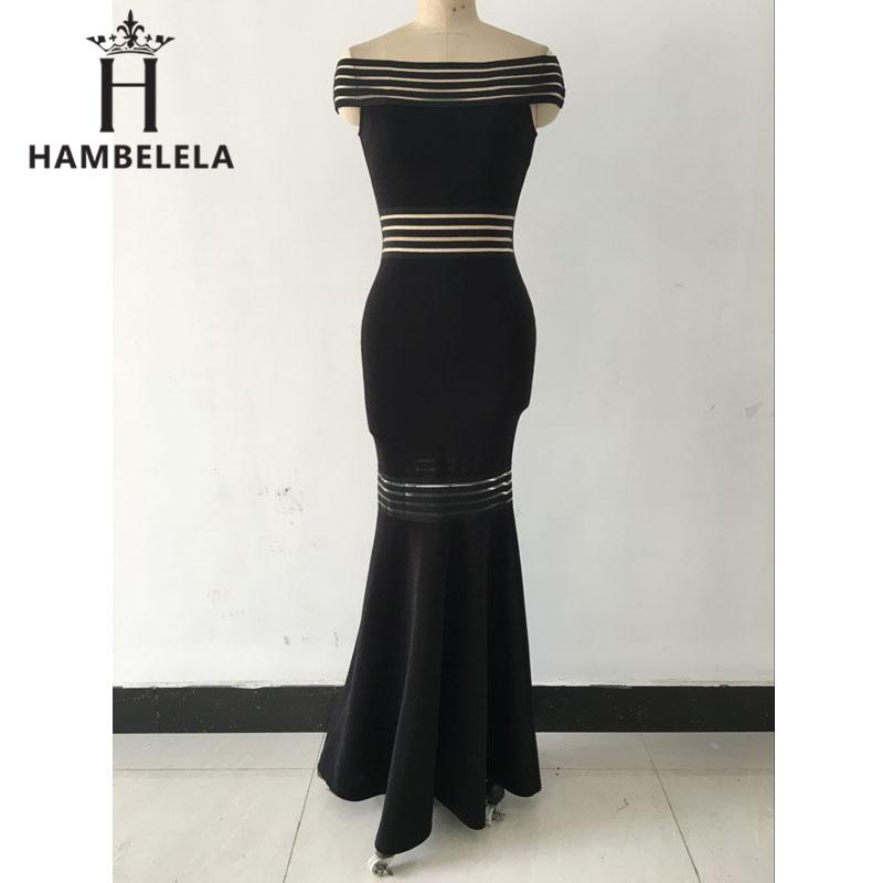3fa4a3c49ced69 Hambelela elegant zwart rood lange feestjurken vrouwen strapless ...