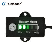 Runleader 12 24V Battery Tester Indicator For LEV Electric Bicycles Golf Carts Forklift Cleaning Vehicles Electric