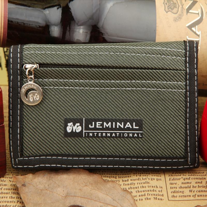 Canvas Wallet Card-Holder Coin Male Purse Teenager Zipper Causal-Style Designer Men's