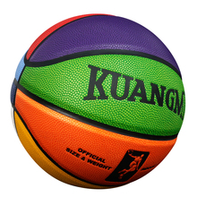 New Kuangmi Colors PU Leather Parent-Child Basketball Indoor & Outdoor Men Women Teenage Children Ball Size5 Size6 Size7