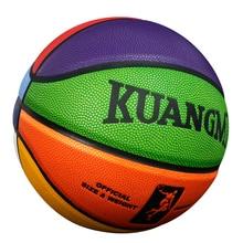 Kuangmi детская игра Баскетбол мяч PU Стрельба тренер крытый Открытый официальный Размеры 7 6 5 4 Баскетбол подарки для детей чистая иглы