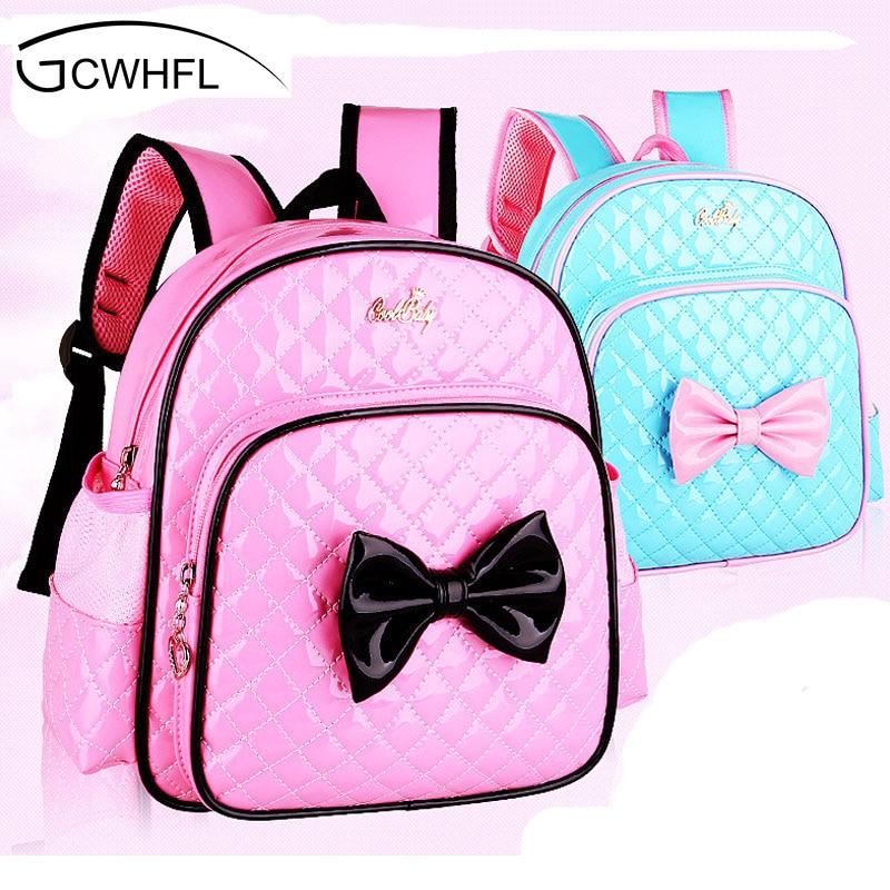 2 7 Years Girls Kindergarten Children Schoolbag Princess Pink Cartoon font b Backpack b font Baby