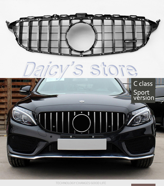 For New C Class W205 Front Grill Mercedes Benz Amg Gtr