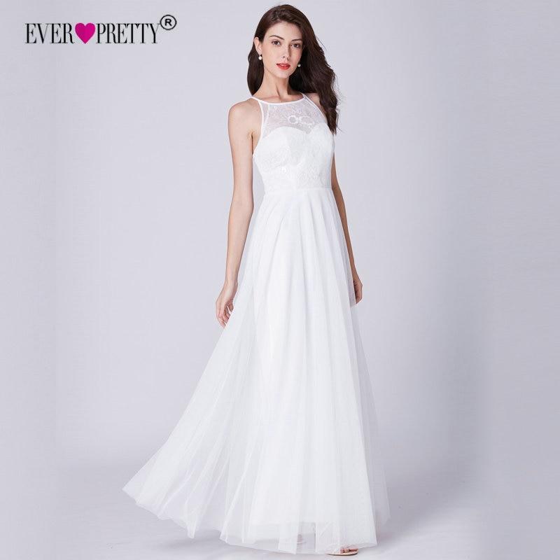 Lace Wedding Dress Ever Pretty EP07514WH Elegant A Line