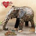 Pakistán bronce pintado vertical nariz como propiedad de absorción de cobre elefante mano importados de arte hecho a mano