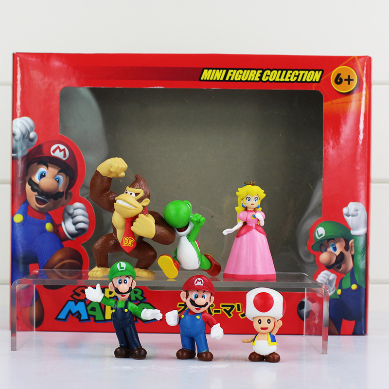 """Principessa Peach Figura con fungo in plastica PVC bambola giocattolo 8/"""" SUPER MARIO BROS"""