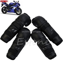 4Pcs Motocross Racing OFF ROAD Motorcycle Knee Shin Elbow Guard Protector Pads #H027#