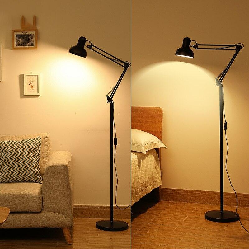 Modern minimalist floor lamp led folding living room desk free station lamp reading table lamp in Floor Lamps from Lights Lighting