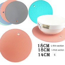 Confectionery thickened silicone table mat non-slip pad heat insulation honeycomb anti-heat cup