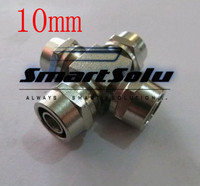 free shipping 2pcs/lots for 10mm hose brass quick connectors Union cross four-way connection four way union