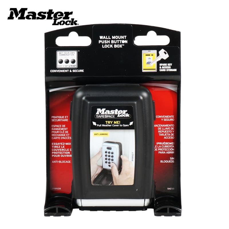 Master Lock Key Safe Box Metal Password Locker Wall Mount Combination Code Keys Keepr Storage Box For Home Company Factory Use