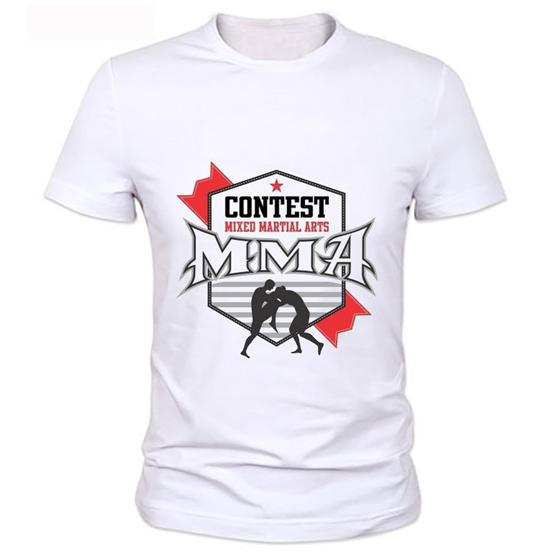 hommes chemises manches courtes t shirt mma t shirts 2016 nouvelle t chemises t casual shirt na. Black Bedroom Furniture Sets. Home Design Ideas