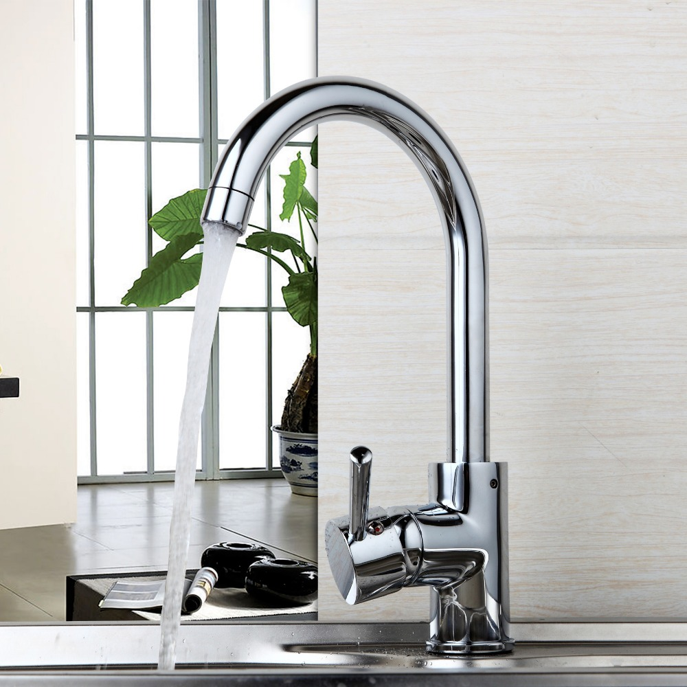 Classic Superior Quanlity Reasonable Price Chrome Polished Deck Mounted Hot Cold Water Convenience Kitchen Basin Faucet