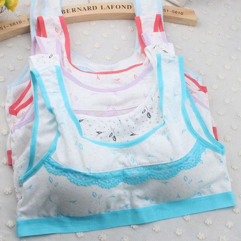 Teenage Girls Underwear Cotton Bra Top Intimates For Kids -1693