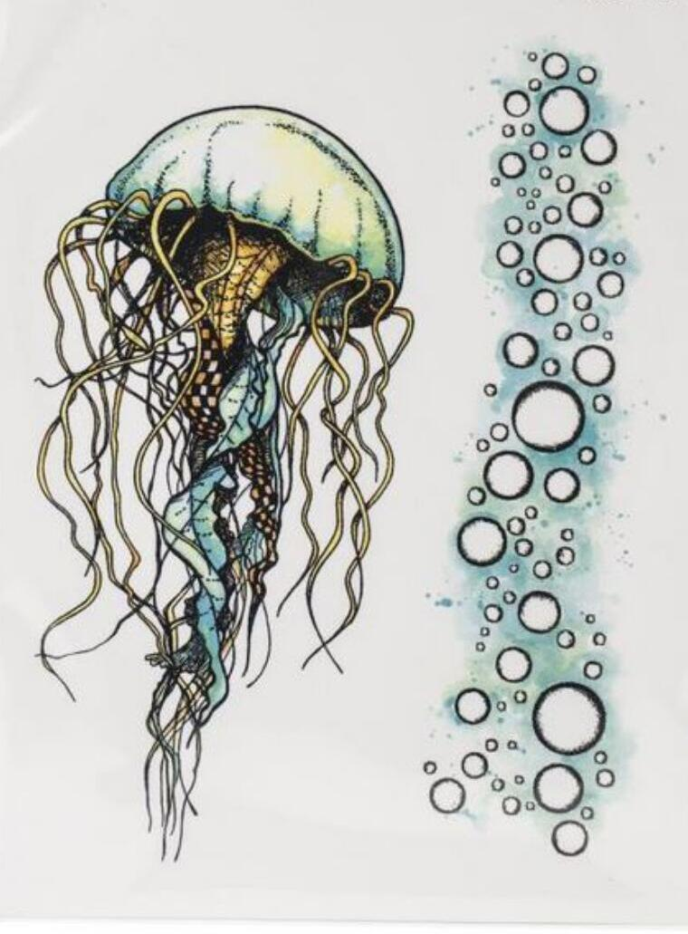 Jellyfish flower clear Stamp/Seal for DIY scrapbooking/photo album Decorative clear stamp sheets A2008(China)
