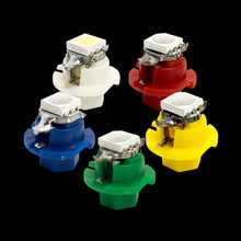 T5 B8.4D 5050 LED Wedge Lamp Car Dashboard warming indicator Bulb B8.4 Auto Instrument Panel Lights White Blue Green Red Yellow(China)