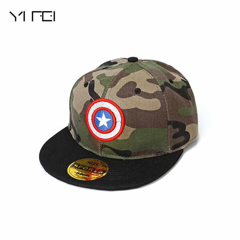 2019 capitão américa camuflagem hip hop caps crianças superman batman boné diamante snapback para o miúdo sol chapéu estrela boné